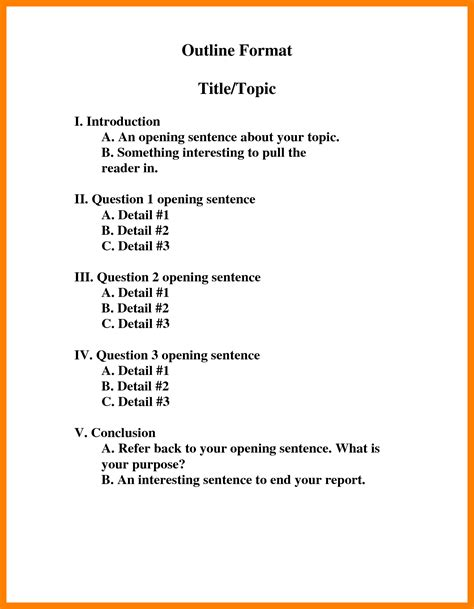 Resume Outlines Examples by 9 Roman Numerals Outline Resume Sections