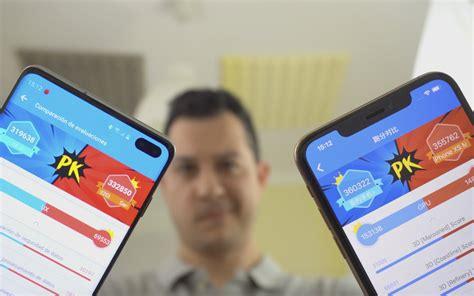 samsung galaxy s10 vs iphone xs max comparativa de potencia