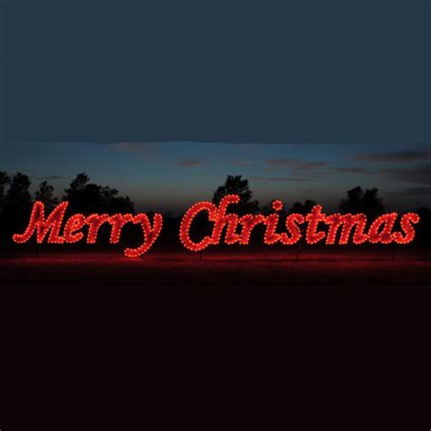 42 red merry christmas commercial led light display