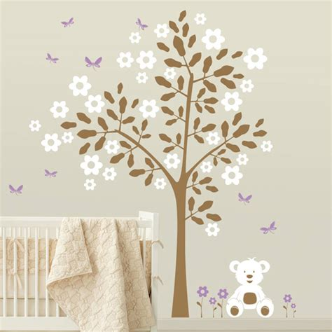 teddy wall stickers simple tree with teddy wall sticker by wall
