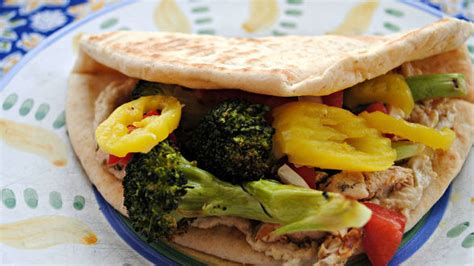 rachael ray roasted broccoli grilled or roasted broccoli and sliced chicken pitas with