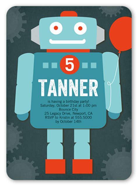 Rocking Robot X  Ee  Birthday Ee    Ee  Boy Ee   Invitations Shutter Y