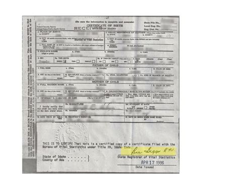 Nj Vital Records Birth Certificate 17 Best Ideas About Certificate Of Birth On Dean Style Dean