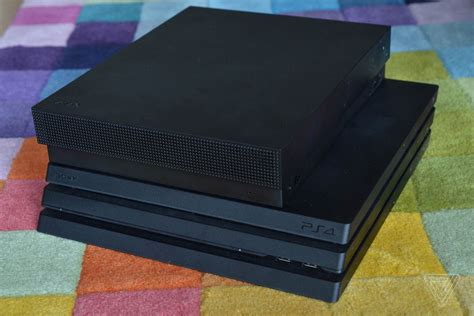 ps4 console vs xbox one ps4 pro vs xbox one x in pictures the verge