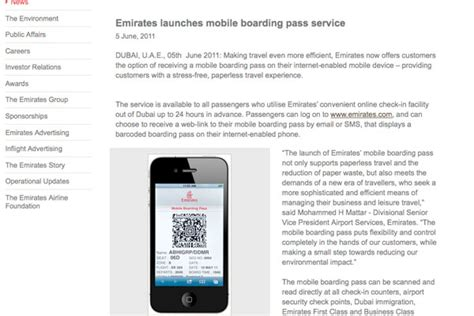 emirates boarding pass emirates is latest airline to offer mobile boarding