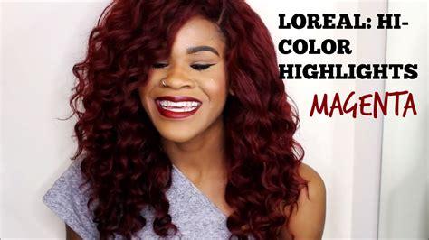 loreal hi color magenta hair no loreal hi color highlights magenta