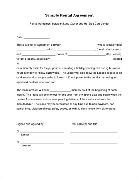 lease agreement letter template 5 sle lease agreement teknoswitch