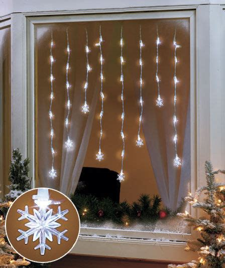 hanging christmas lights in windows easy snowflake led window hanging icicle lights indoor home decor ebay