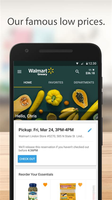 walmart app for android phone walmart grocery android apps on play