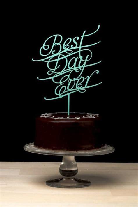 Best Day Ever Wedding Cake Topper   Tiffany Blue #2040152