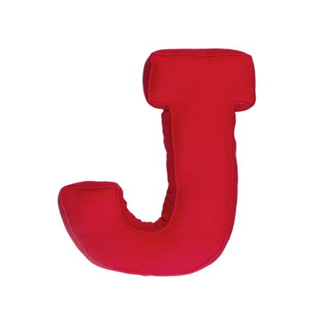 Fabric letter J, red