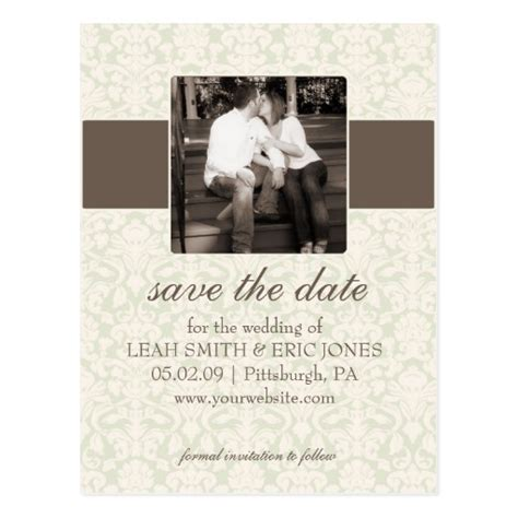 photo save the date template postcard zazzle