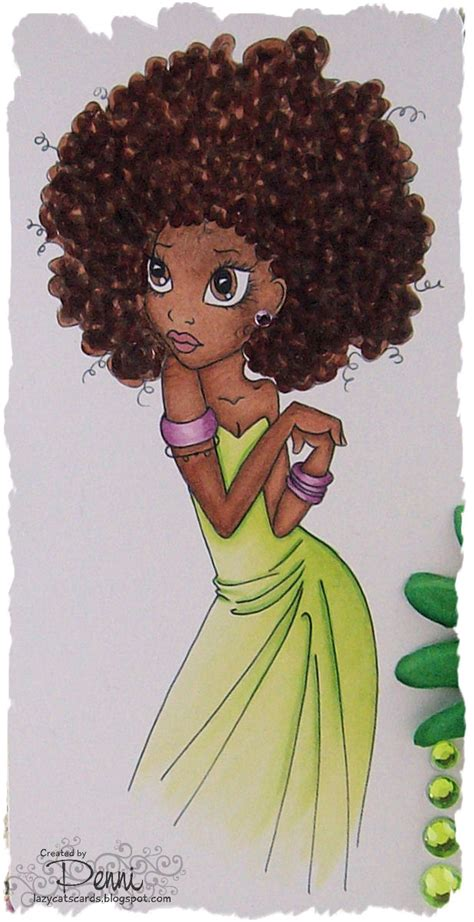 natural hairstyles cartoon copic marker europe colouring afro caribbean hair a