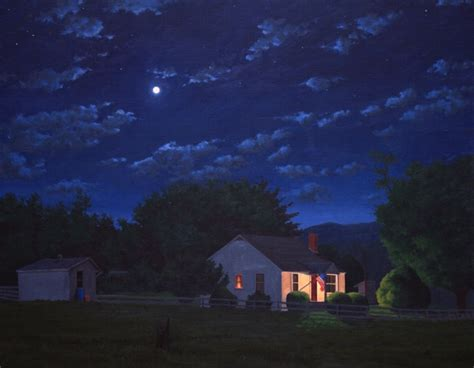porch at night paul keysar porch light night painting