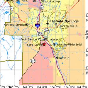 fort carson colorado map fort carson colorado co population data races