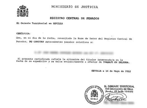 Criminal Record Español Traducci 243 N De Certificado De Antecedentes Penales