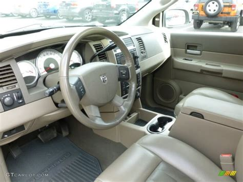 dark khaki light khaki interior 2006 dodge durango limited hemi 4x4 photo 61524790 gtcarlot com