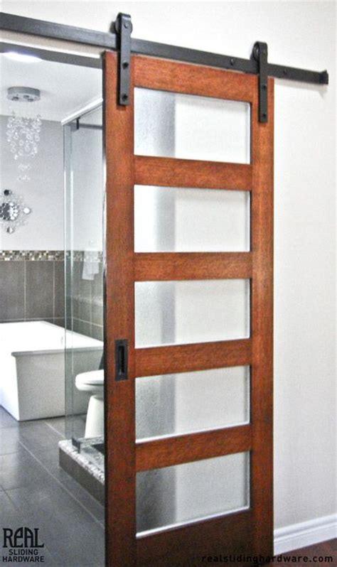 Bathroom Glass Barn Door 25 Best Ideas About Sliding Bathroom Doors On