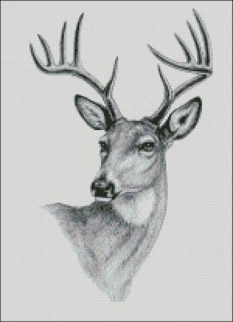 pattern whitetail deer whitetail buck deer counted cross stitch pattern