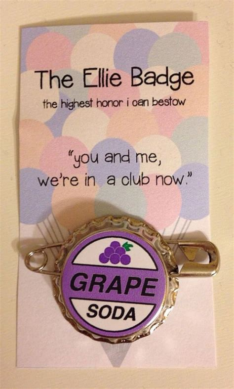 pin by inspired by disney ellie badge grape soda pin inspired by disney pixar s up