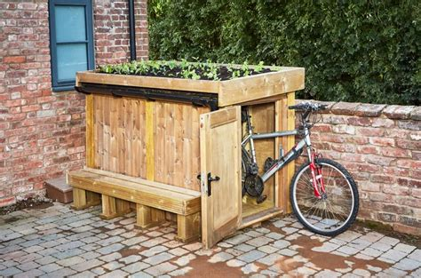 living roof bike shed the allotment store