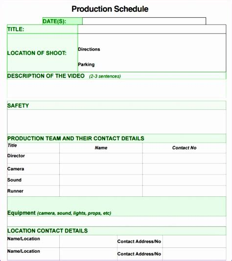 production schedule template excel free 6 production schedule template excel free exceltemplates