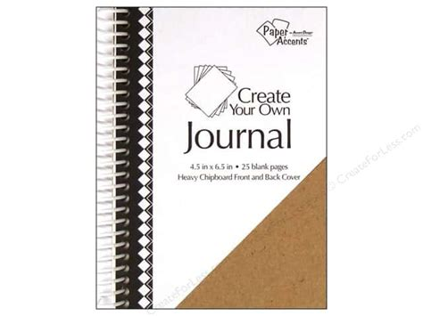 print your own papes blank journal and broadway musical gift books paper accents create your own journal 4 5x6 5 blnk