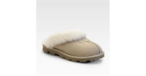 uggs coquette slippers ugg coquette sheepskin slippers in lyst
