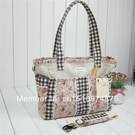 pattern design bags 2014 new arrive cotton fabric bag flower pattern design