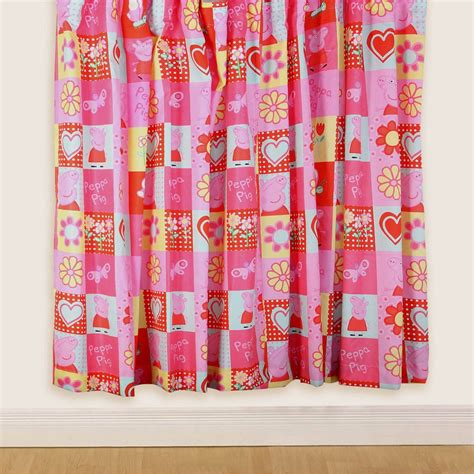 peppa pig curtains peppa pig polkadot 66 quot x 54 quot curtains new free p p ebay