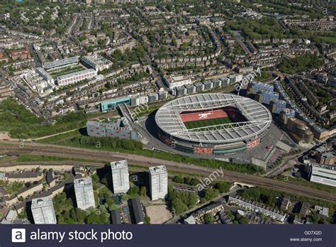 arsenal home ground aerial view of arsenal fc former highbury ground and the