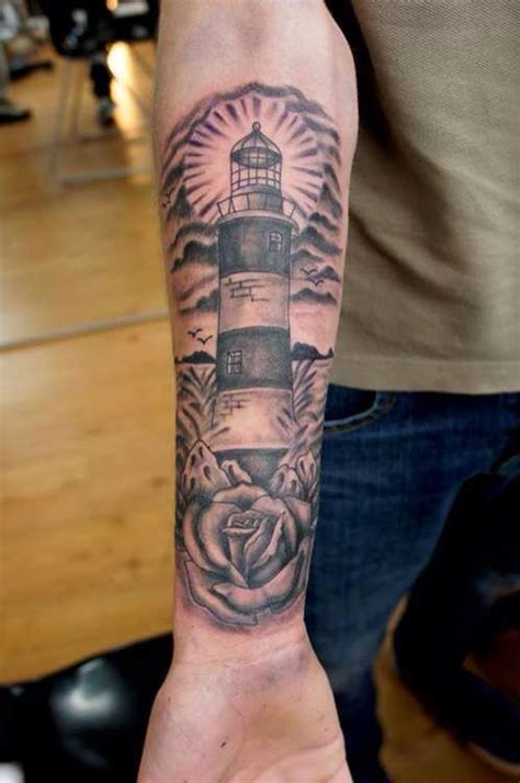 lighthouse tattoo meaning lighthouse sleeve mitch tat