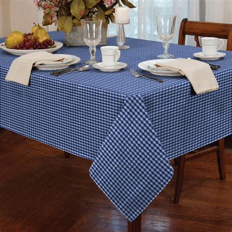 oblong kitchen tables tablecloth traditional gingham check square oblong