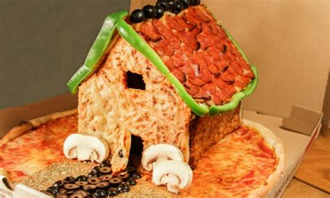 christmas    pizza bread house sneakhype