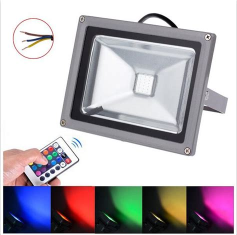 Lu Roda Sepeda 20 Led 7 Color bridgelux rgb led floodlight 10w 20w 30w 50w waterproof outdoor color changing led spotlight
