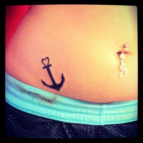 small heart tattoo on hip small tattoos small anchor on hip for