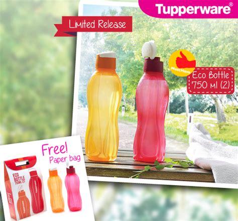 Botol Eco Tupperware 750ml eco bottle tupperware 750ml perlengkapan makan tupperware