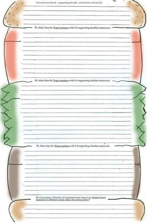 burger writing template 12 best ideas about hamburger paragraph on