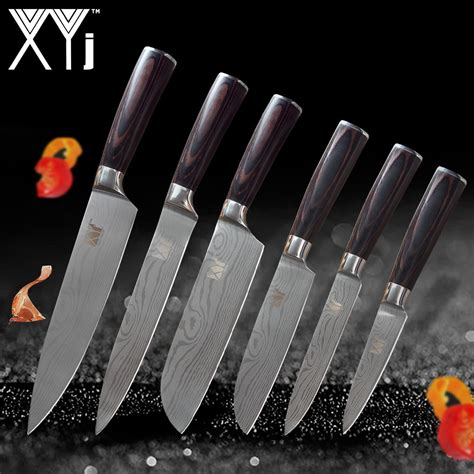 wood handle kitchen knives 2018 aliexpress buy xyj kitchen knives stainless steel knife tools new arrival 2018 color wood