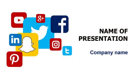 Social Media Powerpoint Template Background For Presentation Free Free Social Media Graphic Templates