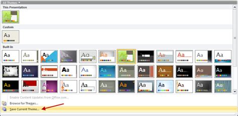 themes for windows 7 powerpoint using powerpoint 2010 to create a custom theme for