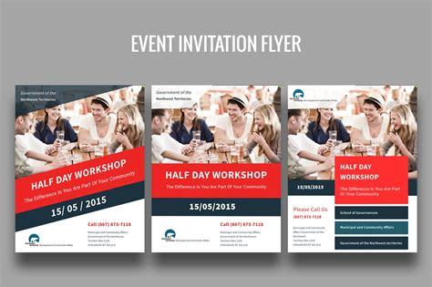 invitation flyer event invitation flyer flyer templates creative market