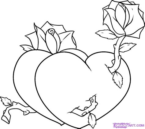 roses and hearts coloring pages az coloring pages