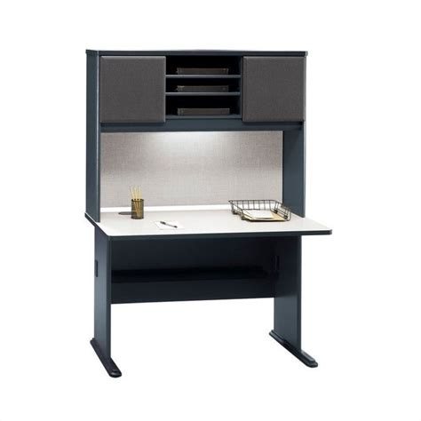 48 Desk With Hutch Series A 48 Quot Computer Desk With Hutch In Slate Wc8448a Pkg1