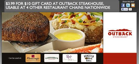 Outback Steakhouse Gift Card Can Be Used At - 10 gift card to outback steakhouse for 3 99 money saving mom 174