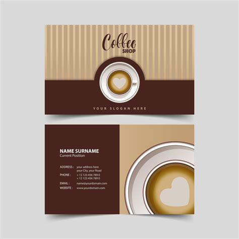 coffee shop business cards design coffee shop business card vector 01 vector business