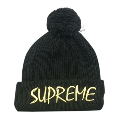 supreme hats black supreme ftp beanie hat black