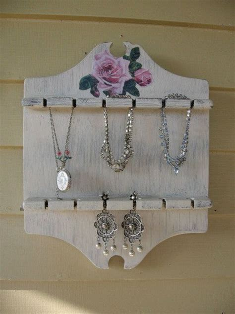 repurposed spoon holder shabby chic jewelry holder by