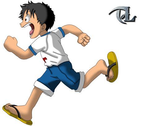young luffy running  tol  deviantart