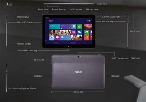Tablet Windows 8 Asus asus vivo tab atom windows 8 tablet images 2648 techotv